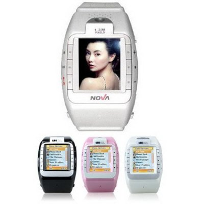 1.3 Inch Touch Screen Watch Mobile Phone Support Camera